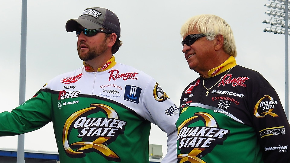 Matt Arey and Jimmy Houston from the Quaker State Anglers