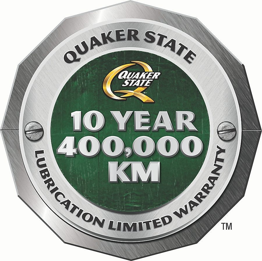 Quaker State: 10 years or 400,000 km warranty