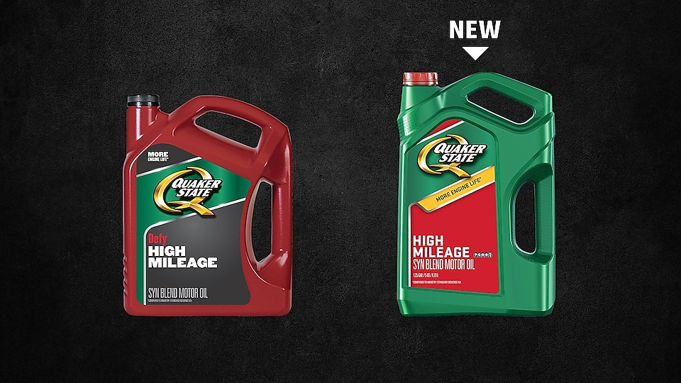 Quaker State high mileage oil