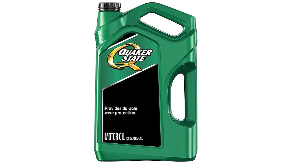 Quaker State Ultimate Durability bottle on a white background