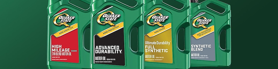 Find the right oil from our line of Quaker State motor oils
